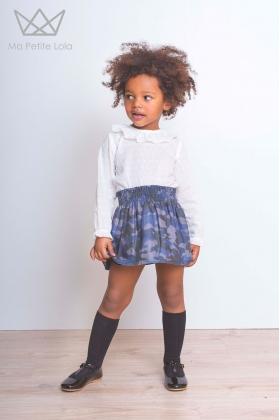 Falda camuflaje niña Blue Camu
