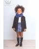 Abrigo niña negro Ma Petite Lola moda infanitil