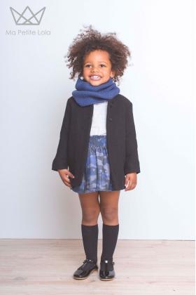 Abrigo negro niña