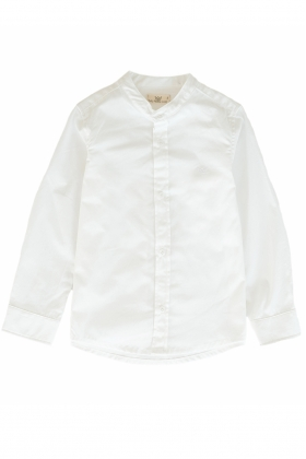 Camisa niño mao algodón blanca