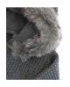 Rebeca larga con capucha pelo gris