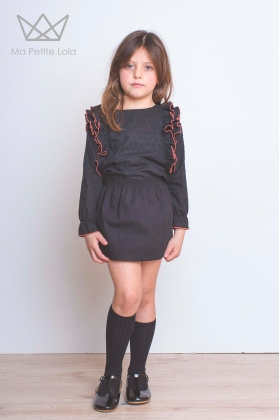 Falda engomada negra
