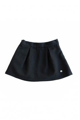 Falda pliegues negra