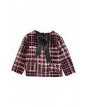 Ma Petite Lola moda infantil, Top tejido tweed para niñas