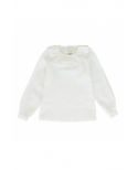 Camisa blanca cuello redondo Ma Petite Lola