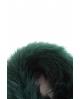 Cuello de pelo con lazada VERDE