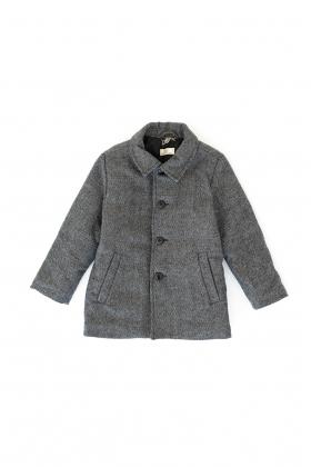 Abrigo niño espiga gris