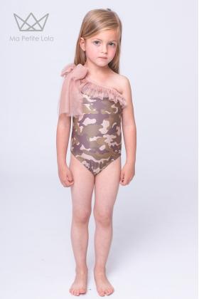 Bañador camuflaje niña