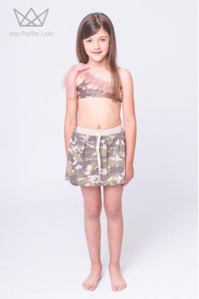 Bikini asimétrico camuflaje