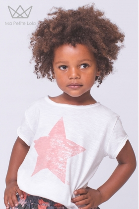 Camiseta estrella coral