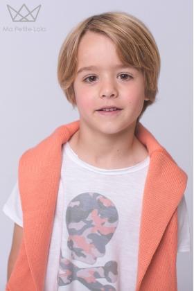 Camiseta calavera Carmu coral