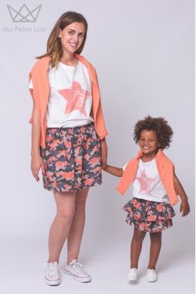 Camiseta mamá estrella coral