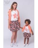 Camiseta mamá estrella coral Ma Petite Lola Mini me