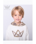 NATURE sudadera beige logo camuflaje Ma Petite Lola