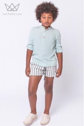 Camisa mao verde agua