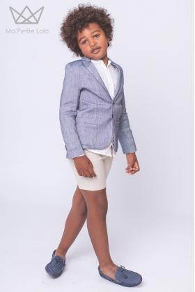 Bermuda niño lino beige