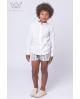 Camisa mao niño de lino blanco Ma Petite Lola