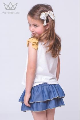 Falda culetín denim