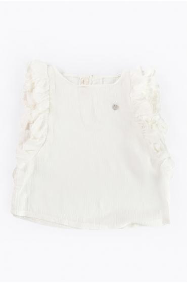 Blusa Granot blanca Ma Petite Lola moda infantil