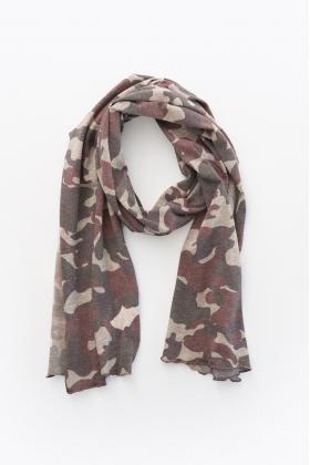NATURE foulard camuflaje ROJO