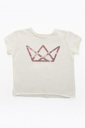 NATURE camiseta NIÑA logo camuflaje ROJO