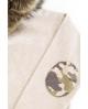 NATURE Sudadera BEIGE  con capucha de pelo camuflaje