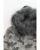 Nature Sudadera camuflaje GRIS con capucha pelo Ma Petite Lola
