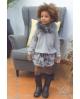 NATURE Falda culetín camuflaje GRIS Ma Petite Lola