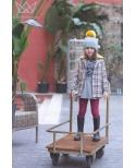 Abrigo de cuadros para niñas MAX, Ma Petite Lola moda infantil