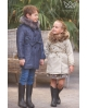 Gabardina niño con capucha pelo camuflaje Ma Petite Lola