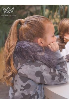NATURE Vestido camuflaje GRIS con capucha