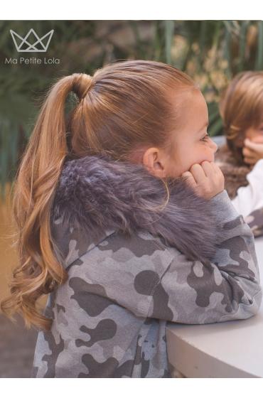 NATURE Vestido camuflaje GRIS con capucha Ma Petite Lola