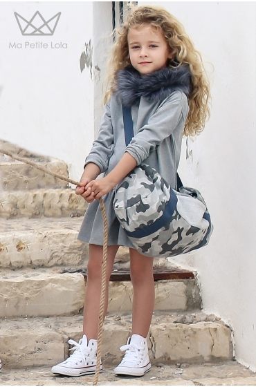 Vestido para niñas con capucha de pelo de Ma Petite Lola