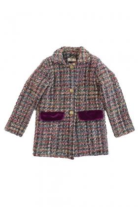 Abrigo tweed Cereza