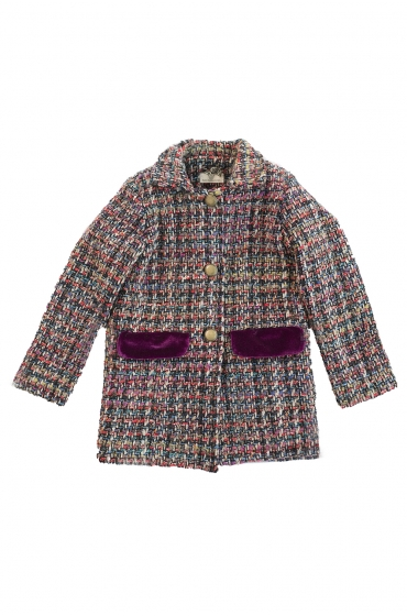 Abrigo tweed Cereza Ma Petite Lola, moda infantil