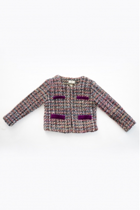 Chaqueta Lola tweed Cereza