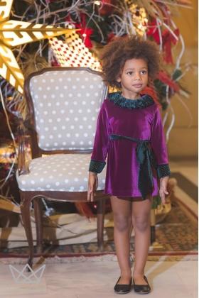 Vestido terciopelo Cereza