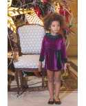 Vestido terciopelo Cereza Ma Petite Lola