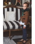 Chaqueta Lola tweed Orange  Ma Petite Lola, moda infantil