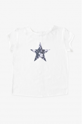 NATURE Camiseta estrella NEGRA