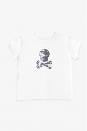 NATURE Camiseta NEGRA calavera