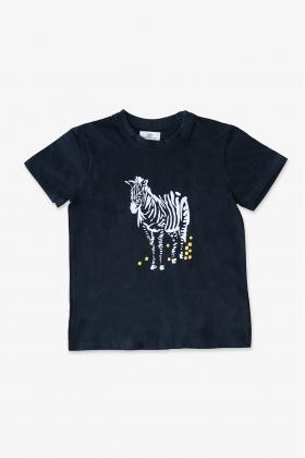 Camiseta cebra negra