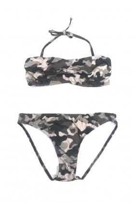 Bikini camuflaje negro mamá