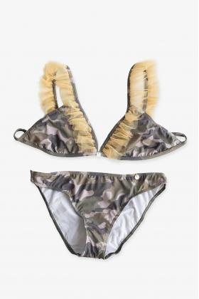 Bikini camuflaje verde/mostaza mamá