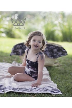 Ranita camuflaje negro niña