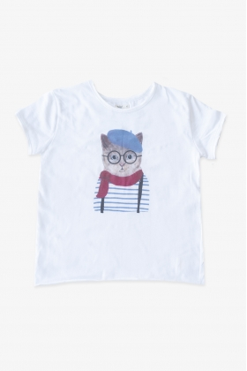 BAÑO GOMINOLA Camiseta gato