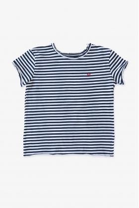 Camiseta rayas azules niño