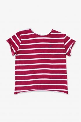 BAÑO GOMINOLA Camiseta rayas rojas niño