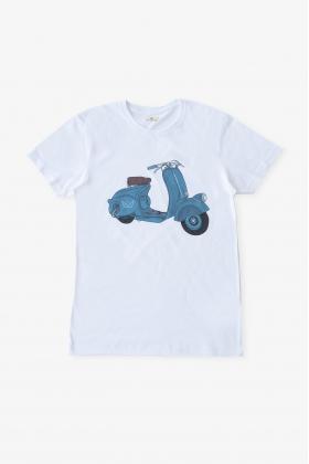 Camiseta vespa azul papá