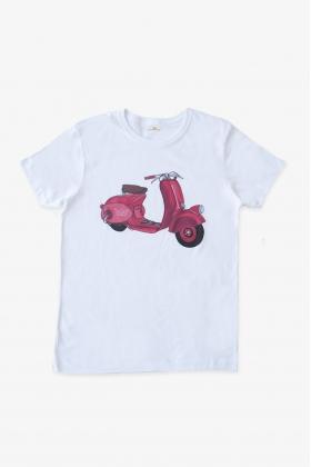 Camiseta vespa roja papá